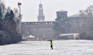 Prima nevicata a Milano