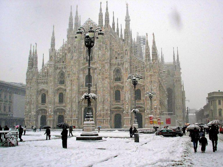 In arrivo neve e freddo a Milano
