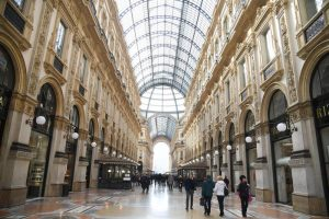 Galleria Vittorio Emanuele II di Milano. ANSA/ DANIEL DAL ZENNARO