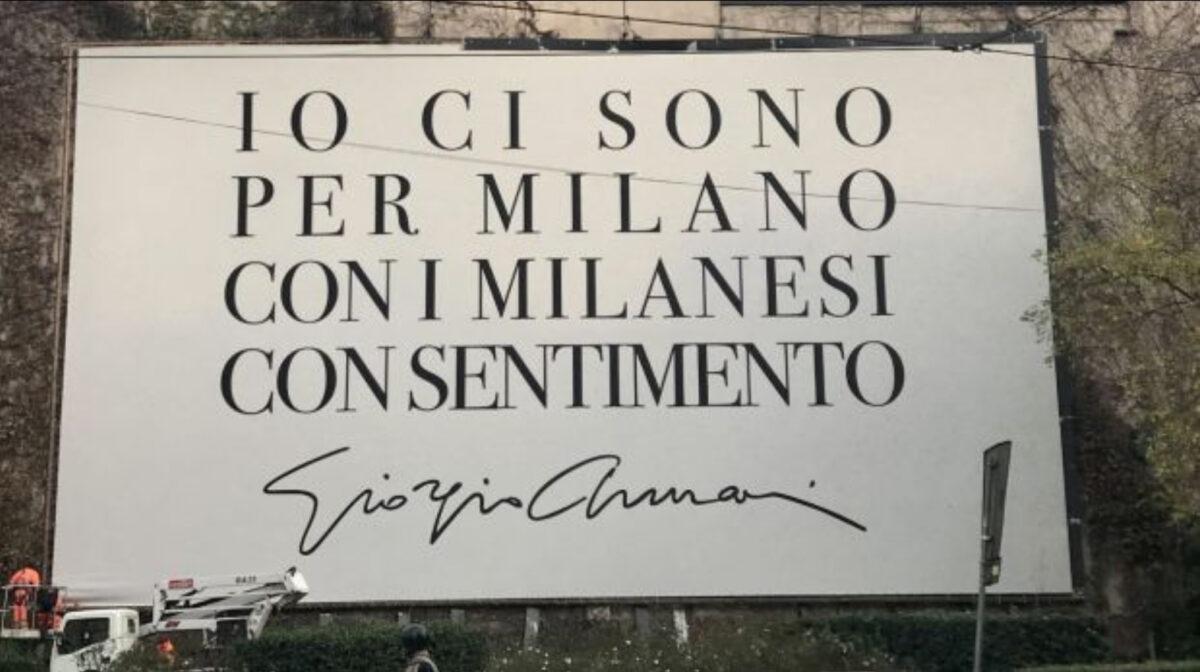 """Giorgio Armani:""""Io ci sono per Milano"""""""