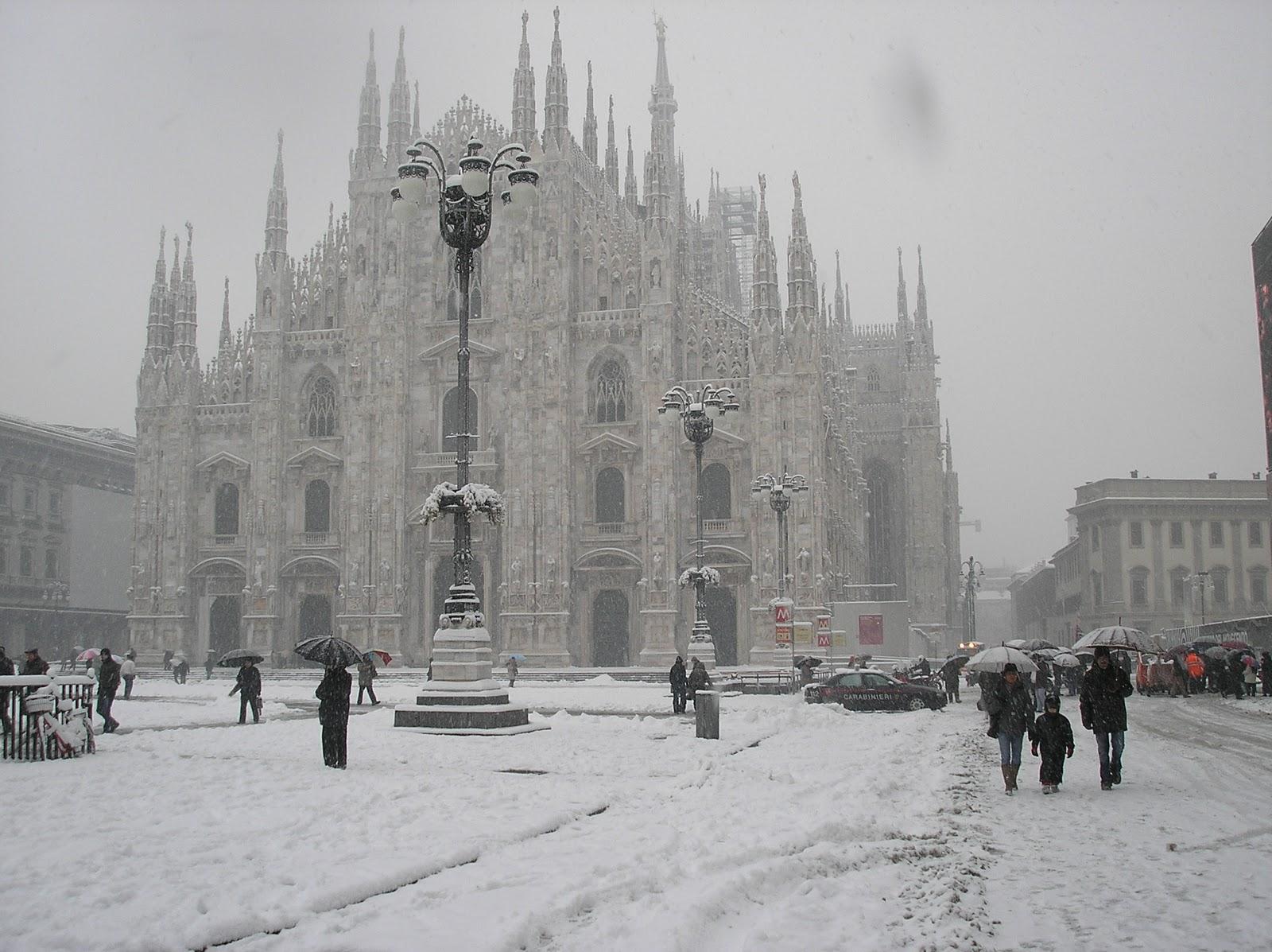 A Milano è in arrivo la neve