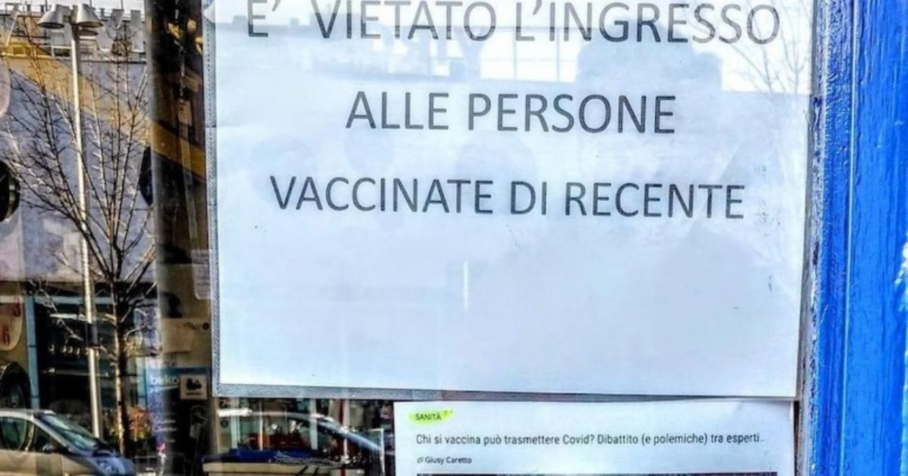 negozio no vax milano