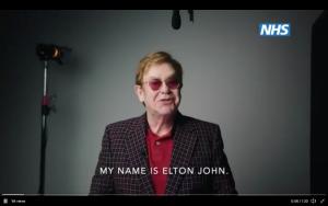 Elton John nello spot di NHS