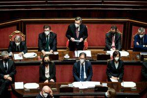 Draghi parla al Senato