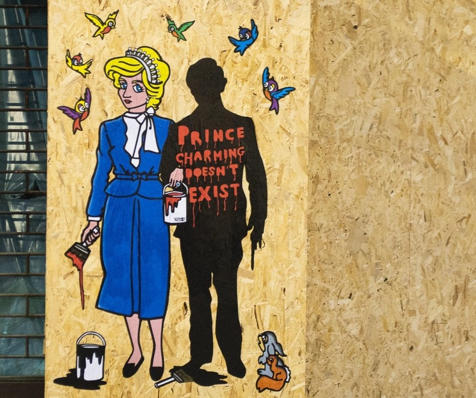 lady diana milano cool street art