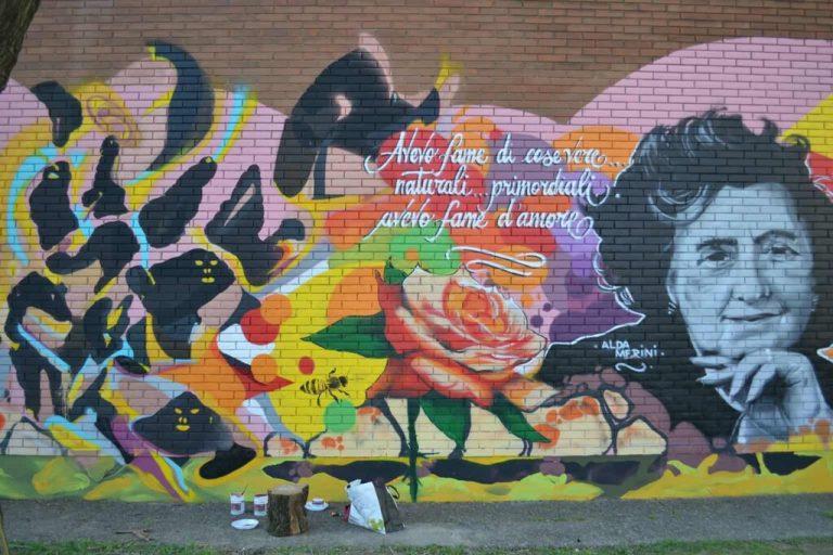 Milano: un murale per celebrare Alda Merini e la natura in Via Gallarate