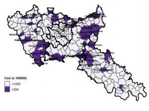 mappa dei contagi