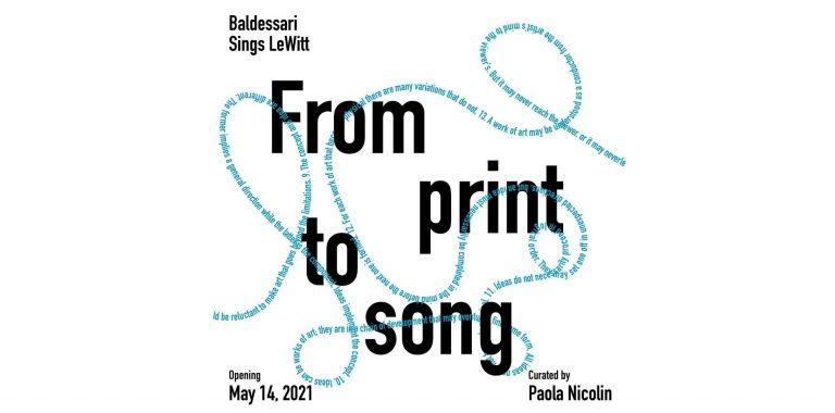 From print to song: Baldessari Sings LeWitt