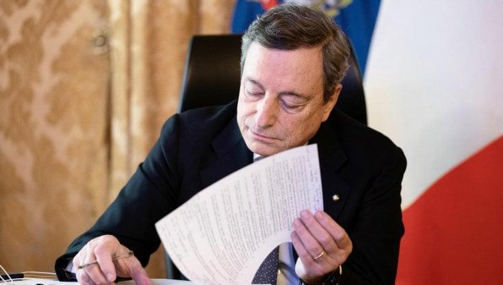 """Nuovo Decreto, Draghi: """" Serve ancora pazienza, coprifuoco alle 23"""""""