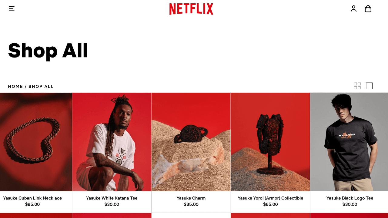 Netflix-shop-online