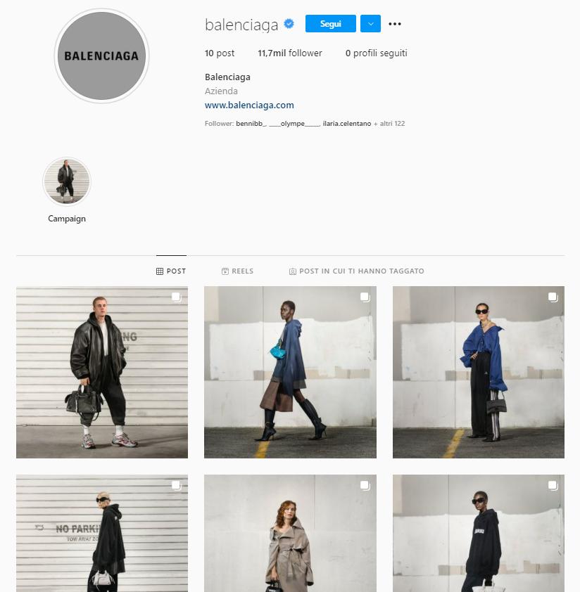 Instagram Balenciaga