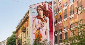 milano venere brera murales